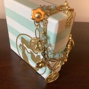 Spartina 449 3 chain butterfly coin bracelet